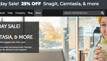 TechSmith Camtasia Cyber Monday 2017: 25% OFF